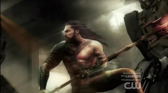 Arte conceptual de Aquaman mostrado en el especial del DC Extended Universe de The CW