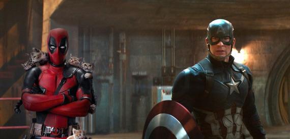 Montaje con Deadpool y Capitán América
