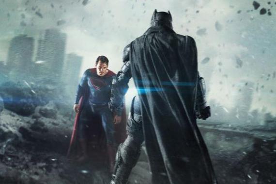 Recorte del póster IMAX de Batman v Superman: El Amanecer de la Justicia (2016)