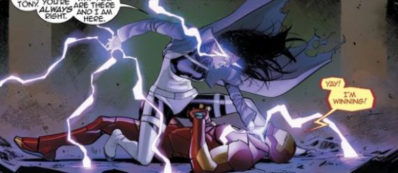 Invencible Iron Man 66 - Panel Interior, por David Márquez