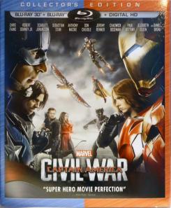 Carátula del Blu-ray de Capitán América: Civil War (2016)