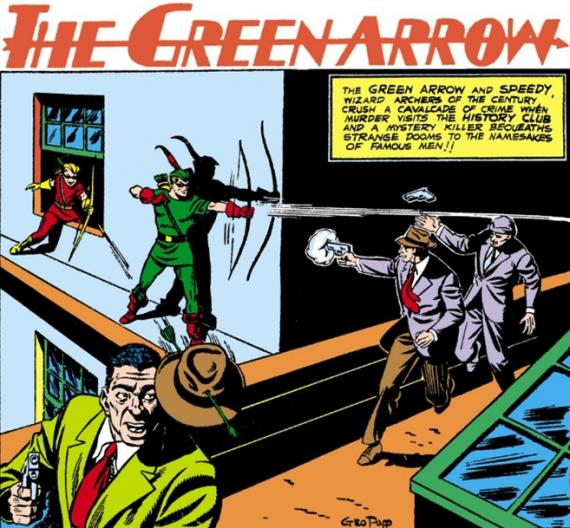 Viñeta de 75 años de Green Arrow: Especial More Fun Comics (1941-2015)