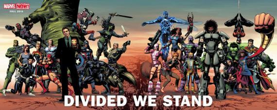 Marvel anuncia el relanzamiento Divided We Stand para otoño de 2016