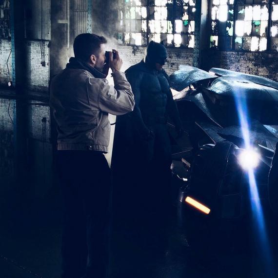Detrás de las cámaras de la primera foto de Batman de Batman v Superman: El Amanecer de la Justicia (2016)
