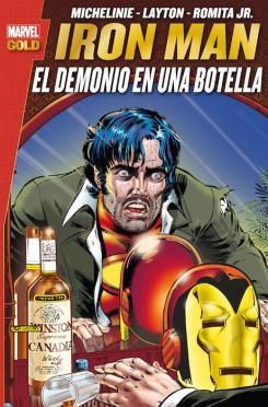 Portada de Marvel Gold. Iron Man: El demonio en una botella (2a Edición)