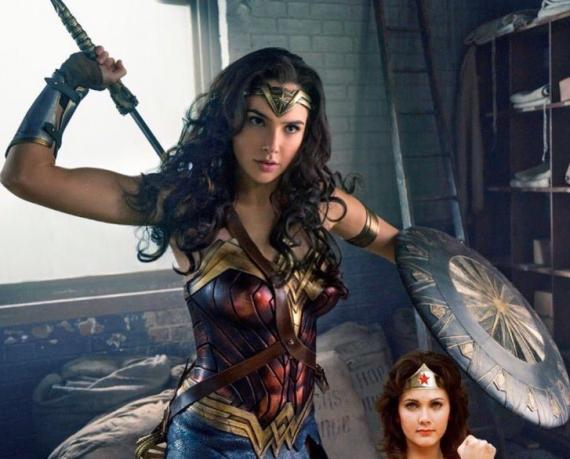 Scan de Wonder Woman en la revista EW