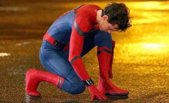 Tom Holland en el set de Spider-Man: Homecoming (2017)