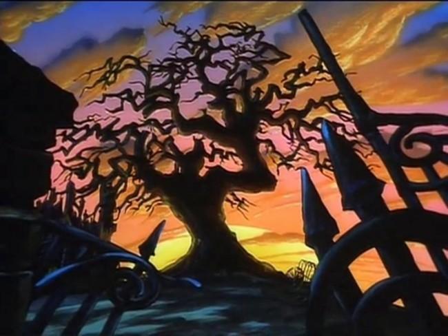 El árbol de la noche de brujas