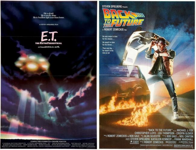Carteles de ET y Regreso al Futuro