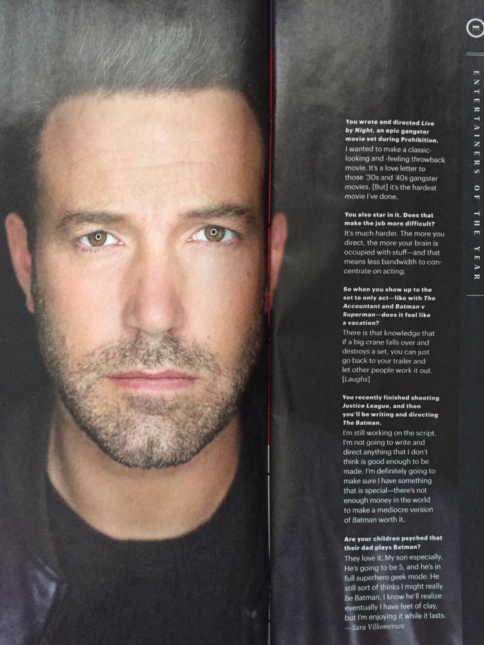 Entrevista a Ben Affleck sobre su película de Batman