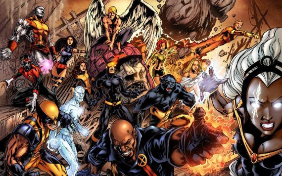 Imagen grupal de los X-Men en los cómics