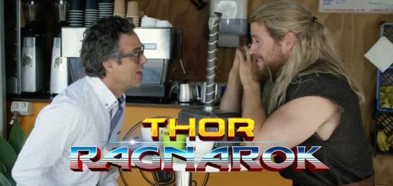 Parodia oficial del paradero de Thor y Hulk durante Capitán América: Civil War