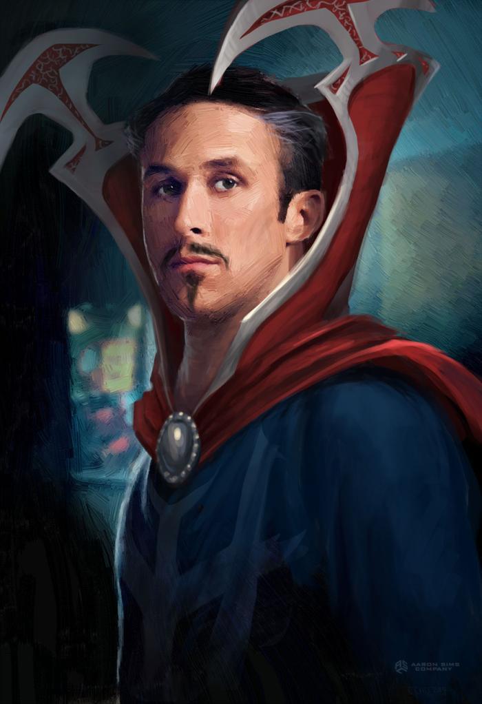 Arte conceptual de Ryan Gosling como Doctor Strange