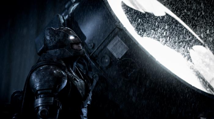 Batman de Ben Affleck en Liga de la Justicia armadura