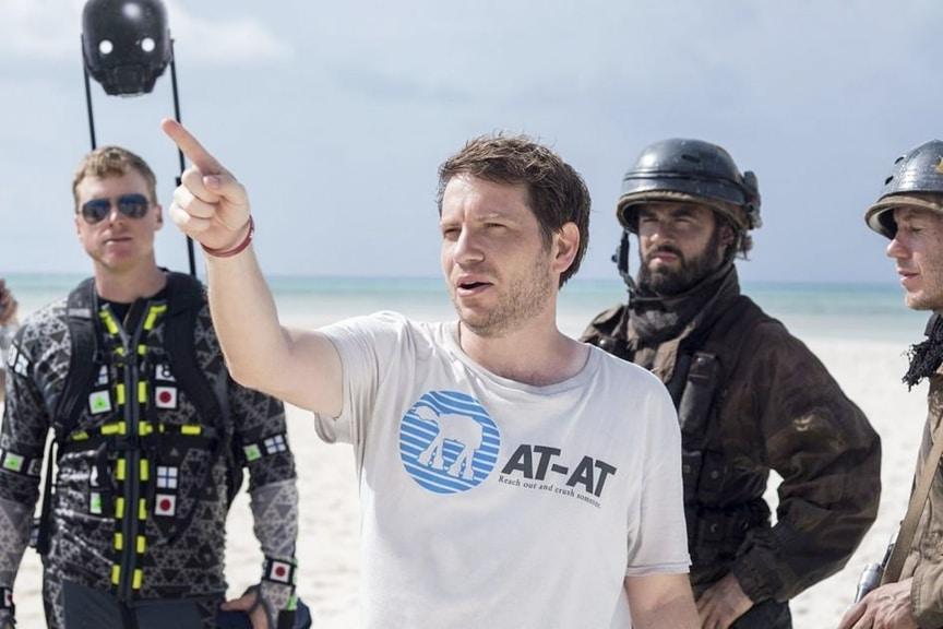 Gareth Edwards durante el rodaje de Rogue One Star Wars
