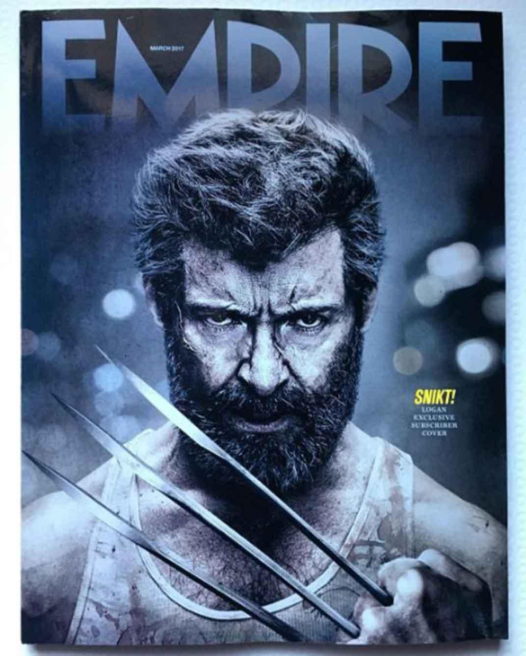 portada de Empire de 'Logan' protagonizada por Hugh Jackman como Lobezno