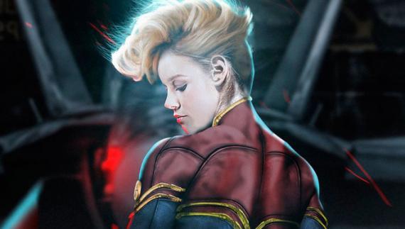 Fan-art de Brie Larson como Capitana Marvel