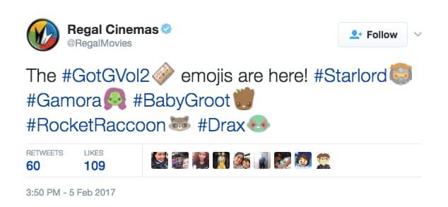 Emojis de Guardianes de la Galaxia Vol. 2 disponibles en Twitter
