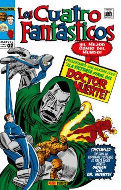 Portada de Marvel Gold. Los Cuatro Fantásticos 2: La batalla del Edificio Baxter