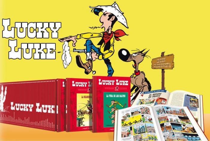 Imagen promocional del Coleccionable 70 aniversario de Lucky Luke