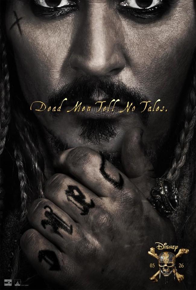Jack Sparrow en el nuevo póster de Piratas del Caribe