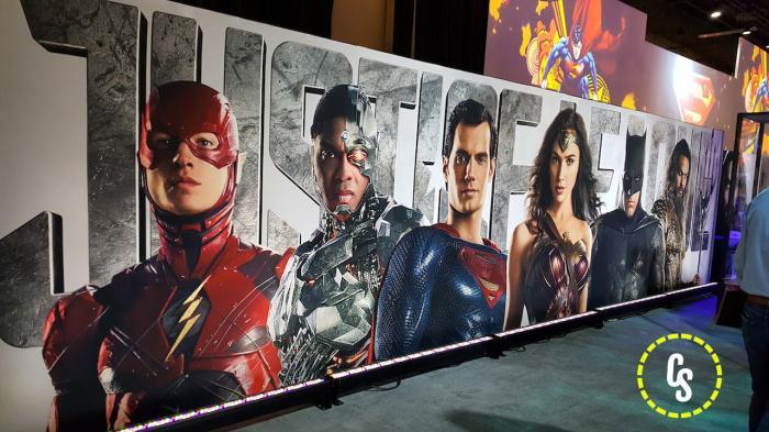 Poster de Justice League (2017) en la Licensing Expo 2017