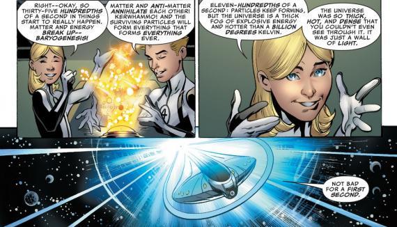 Interior del cómics estadounidense Fantastic Four vol.4 #6, dibujo por Mark Bagley