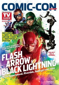 Portada de TV Guide para la SDCC dedicada a Arrow, The Flash y Black Lightning