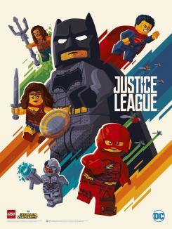 Lego poster de la JLA