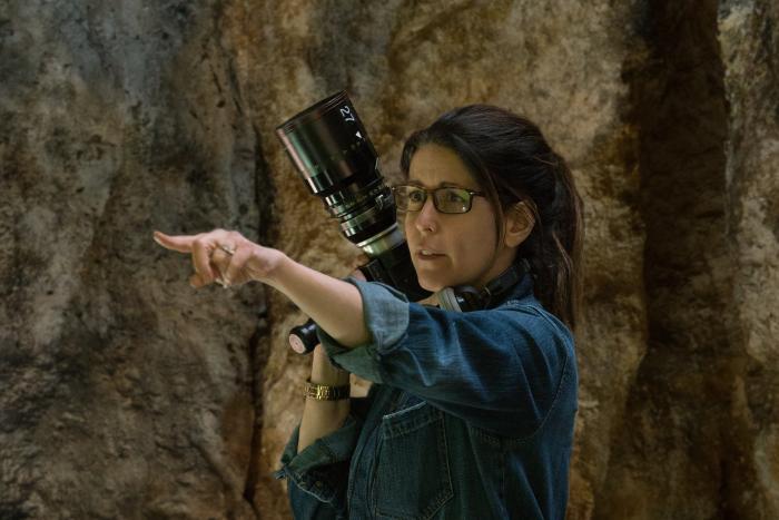 Imagen oficial del set de rodaje de Wonder Woman (2017), directora Patty Jenkins