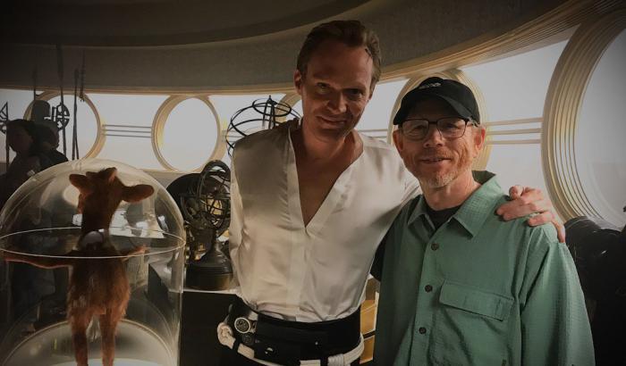 Imagen del set de la película de Han Solo con Paul Bettany y Ron Howard