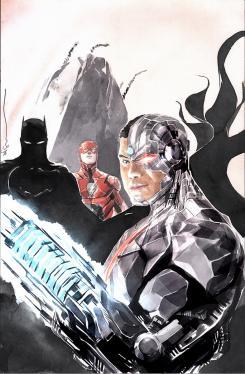 Portada alternativa de Cyborg #18, por Dustin Nguyen