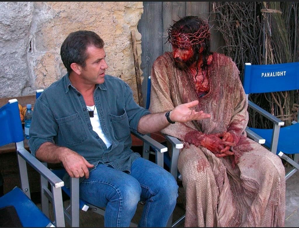 Mel Gibson con Jim Caviezel