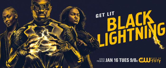 Imagen promocional de la primera temporada de Black Lightning