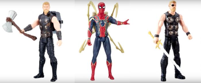 Figuras de acción de Thor y Spider-Man para Vengadores: Infinity War (2018)