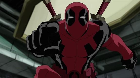 Deadpool de animación en la serie Ultimate Spider-Man