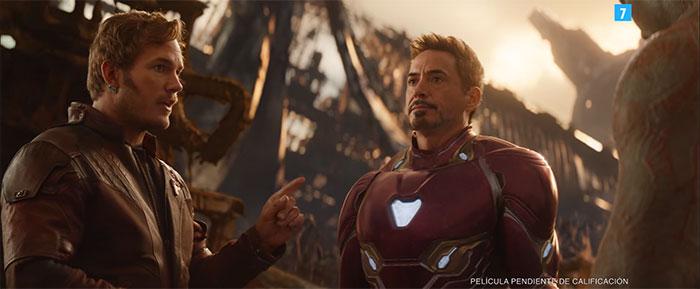 Star-Lord y Iron Man en el nuevo tráiler de Vengadores: Infinity War