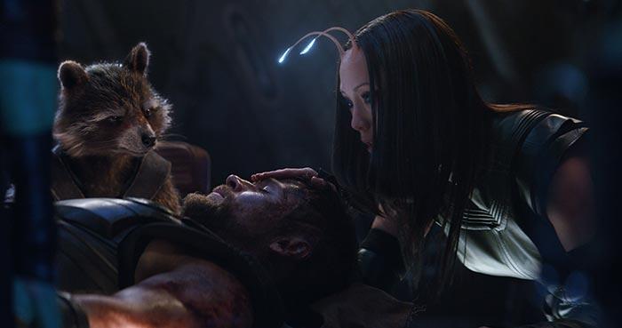 Vengadores: Infinity War. Thor y Guardianes de la Galaxia