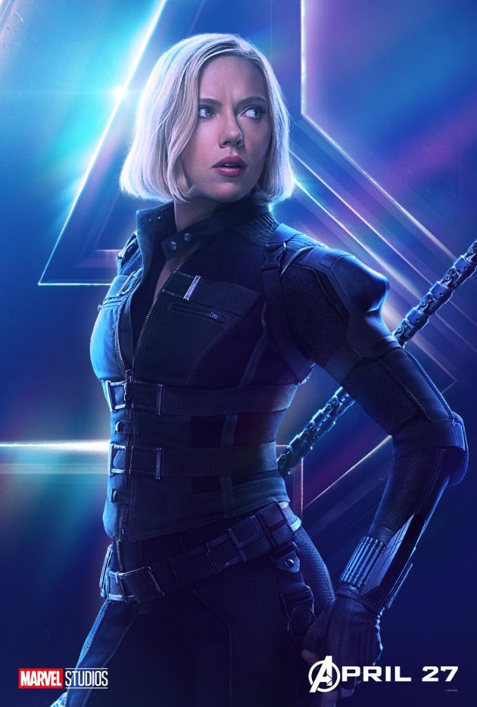 Scarlett Johansson como Black Widow, en Vengadores: Infinity War