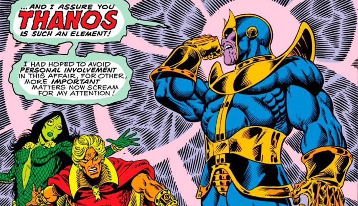 Imagen de Thanos en los cómics Marvel