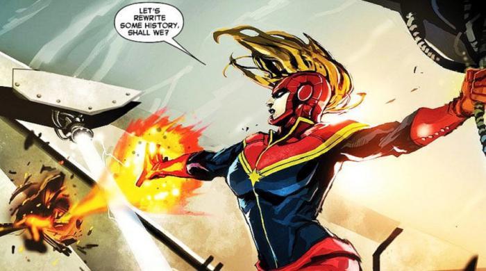 Imagen de cómic, Carol Danvers como Captain Marvel