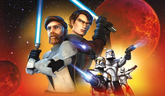Imagen promocional de la serie animada Star Wars: The Clone Wars (2008-2014)