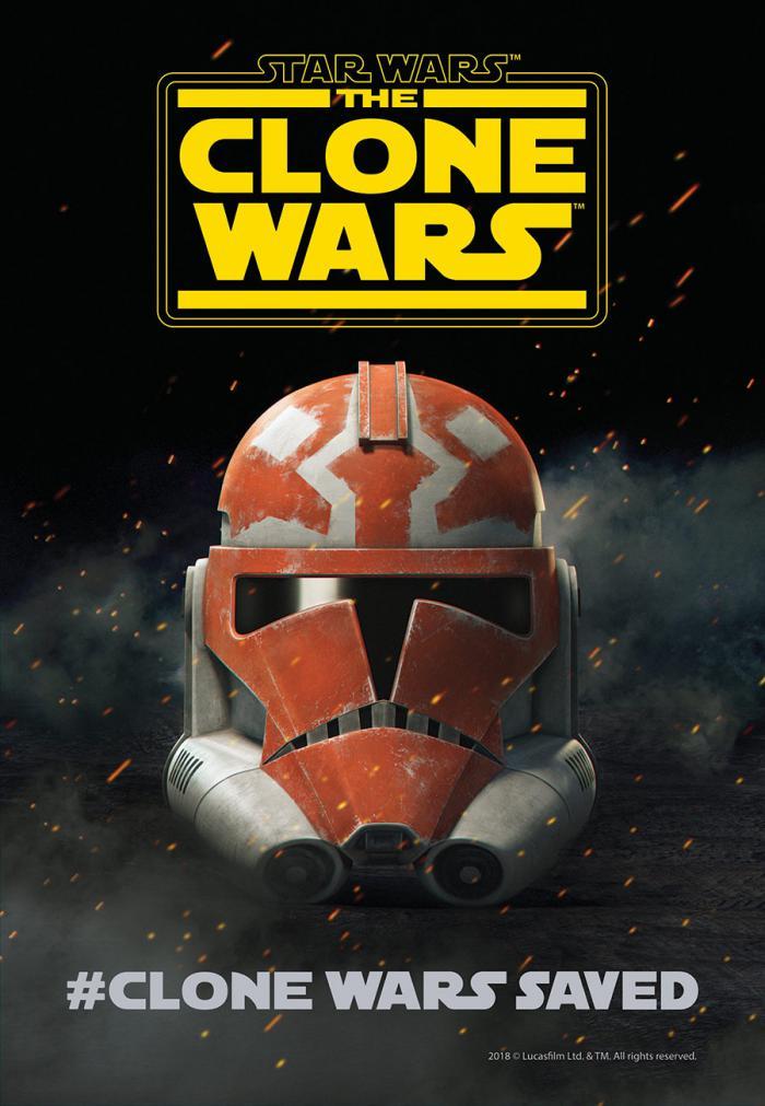 Póster del regreso de Star Wars: The Clone Wars