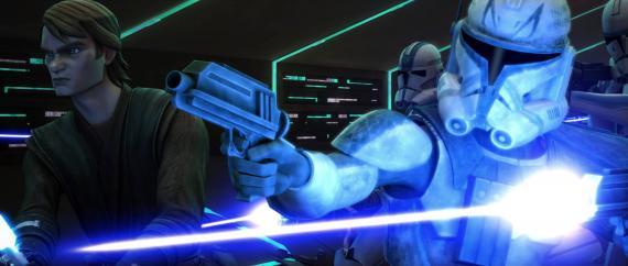 Anakin Skywalker y los Soldados Clon en la sexta temporada de Star Wars: Clone Wars (2014)