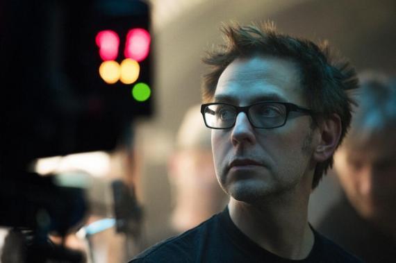 Imagen oficial de James Gunn en el set de Guardianes de la Galaxia (2014)