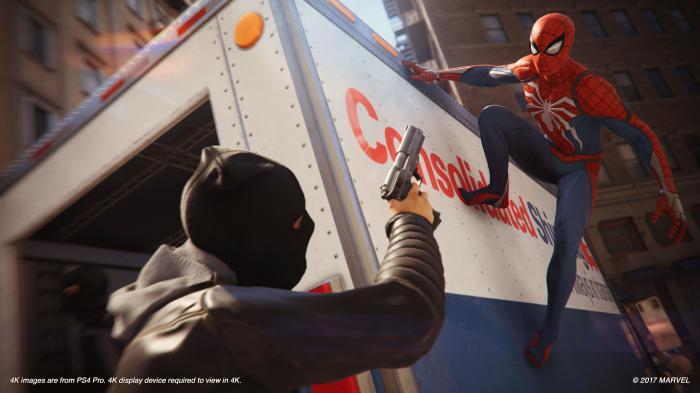 Imagen del juego Spider-Man de PS4 (2018)