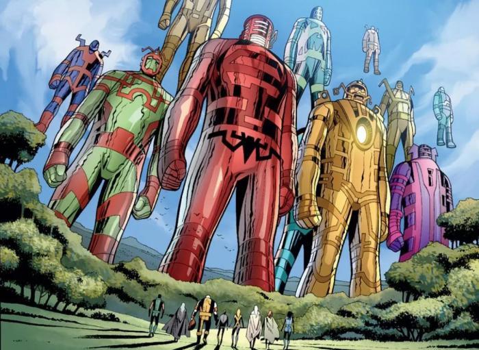 Imagen de los Celestiales en los cómics Marvel