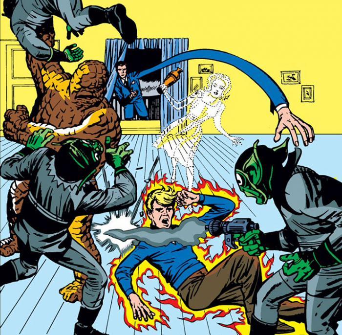 Recorte de la portada del cómic Fantastic Four #2
