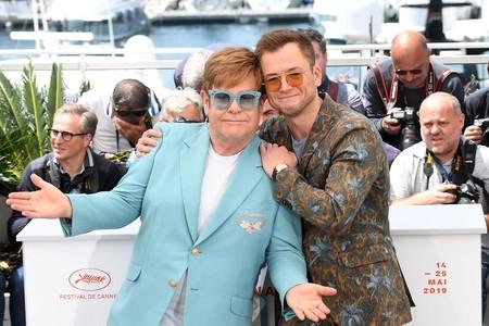 Elton John y Taron Egerton en Cannes
