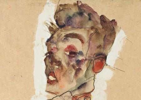 Egon Schiele Self Portrait With Splayed Fingers Google Art Project